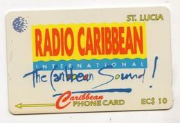 SAINTE LUCIE REF MV CARDS STL-15B Année 1994 EC $10 15CSLB Radio Caribbean - St. Lucia