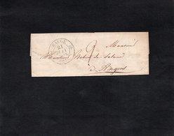 1834 - Lettre Pour ANGERS - Cachet BAUGE - Marcophilie (Lettres)