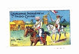 Vignette Militaire Delandre - Cavalerie Indigène De L'indochine - Militario