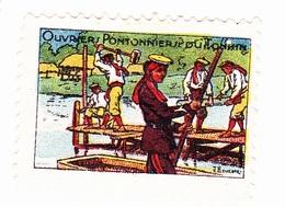 Vignette Militaire Delandre - Ouvriers Pontonniers Du Tonkin - Militario