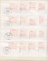 173 Belgie   ATM7-56  Jaar 1983   Frankeervignetten  10fr  50 Stuks Eerste Dag Stempel - Automatenmarken (ATM)