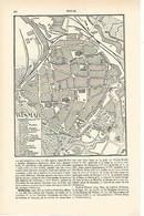 LAMINA ESPASA Alemania 1605: Plano De Wismar Alemania - Autres Collections