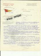75 - Paris - Comptoir Fluvial Nord - Est - 48 Rue De La Bienfaisance - ( 8e) - Transport Maritime - 1944 - Réf - 40 - - Frankreich