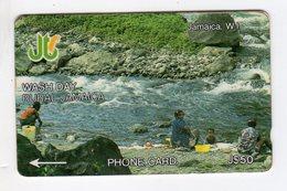 JAMAIQUE  TELECARTE REF MV CARD JAM-13B J$50 CN 13JAMB DATE 1993 WASH DAY - Jamaica