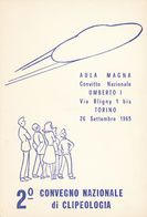 ITALIA - Cartolina Celebrativa Del 2° Congresso Nazionale Di Clipeologia In Torino, 26 Settembre 1965. - Manifestazioni