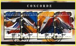 Bloc Feuillet Oblitéré De 4 Timbres-poste - Concorde - République Togolaise 2018 - Togo (1960-...)