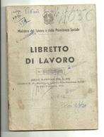 """7374 """" LIBRETTO DI LAVORO N° 9307-COMUNE DI TORRE DEL GRECO 1953 """" ORIGINALE - Vecchi Documenti"""