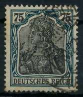 DEUTSCHES REICH 1900 18 GERMANIA Nr 104c Gestempelt Gepr X89907E - Duitsland