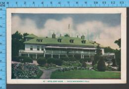 Montmorency Falls - Quebec - Hotel Kent House - Pub. Lorenzo Audet # 46 - Postcard Carte Postale - Québec - Les Rivières