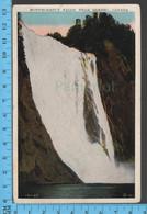 Montmorency Falls - Quebec - Les Chutes - Pub.Valentine-Blacks - Postcard Carte Postale - Québec - Les Rivières