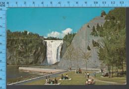 Montmorency Falls - Quebec -Pique-nique Au Bas Des Chutes  - Pub. Kirouack - Postcard Carte Postale - Québec - Les Rivières