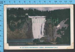 Montmorency Falls - Quebec -Montmorency Falls  - Pub. Lorenzo Audet  #49 - Postcard Carte Postale - Québec - Les Rivières