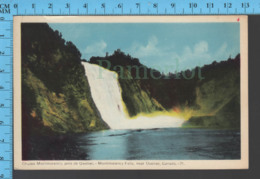 Montmorency Falls - Quebec -Montmorency Falls  - Pub. Peco #21 - Postcard Carte Postale - Québec - Les Rivières