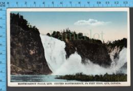 Montmorency Falls - Quebec - Montmorency Falls  - Pub. Librairie Garneau- Postcard Carte Postale - Québec - Les Rivières