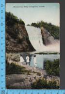Montmorency Falls - Quebec -Animé Girls Montmorency Falls  - Pub.Royal Museum - Postcard Carte Postale - Québec - Les Rivières