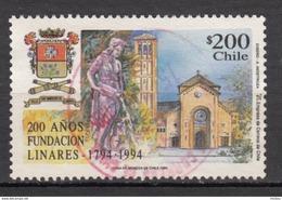 ##18, Chili, Chile, Fontaine, Fountain, Chien, Dog, église, Church, Horloge, Clock, Cloche, Bell, Horlogerie - Chili