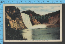 Montmorency Falls - Quebec - Montmorency Falls  - Pub. Peco #21- Postcard Carte Postale - Québec - Les Rivières