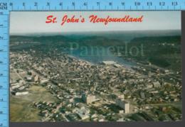 St John - Newfoundland - Arial View Looking East - Pub. Atkingson- Postcard, Carte Postale - St. John's