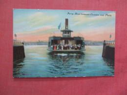 Ferry Boat Between Camden & Philadelphia    Ref 3980 - Camden
