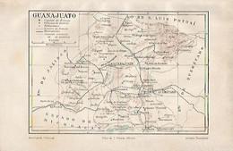 LAMINA ESPASA 2234: Mapa De Guanajuato Mexico - Autres Collections