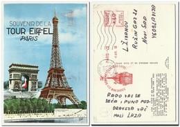 France Souvenir De La Tour Eiffel Paris 1969 - France
