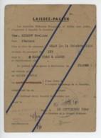 ° WW2 ° ALGER 1944 ° LAISSEZ - PASSER ° En Français Et En Anglais ° - Documents Historiques