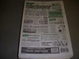 LVC VIE Du COLLECTIONNEUR 042 05.08.1993 BOITE ALLUMETTE PAQUEBOT HERBIER - Brocantes & Collections