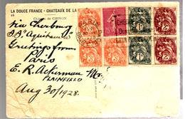 30642 - Affranchsisement  Mixte BLANC / SEMEUSE - 1921-1960: Modern Period
