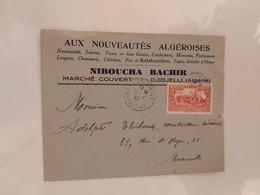 Djidjelli Pour Marseille Le 10 01 1937) Algérie - Cartas