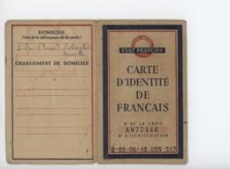 ° WW2 ° ETAT FRANCAIS ° CARTE D'IDENTITE De FRANCAIS ° MARSEILLE 24 MAI 1944 ° - Documents Historiques