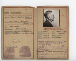 ° WW2 ° ETAT FRANCAIS ° CARTE D'IDENTITE DE FRANCAIS ° MONTPELLIER NOVEMBRE 1943 ° - Documents Historiques
