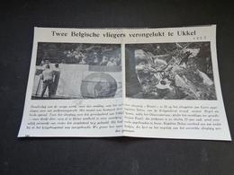"""Origineel Knipsel ( 3597 ) Uit Tijdschrift """" Ons Volk """" 1926 : Ongeluk Vliegtuig  Ukkel  Uccle - Non Classés"""