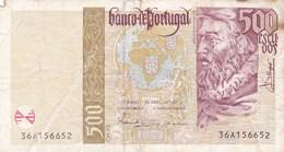 Portugal - Billet De 500 Escudos - Joao De Barros - 17 Avril 1997 - Portugal