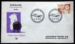 Greenland    1975    Cz.Slania Telecommunications Minr.94  FDC   ( Lot Ks ) - FDC