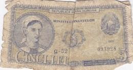 Roumanie - Billet De 5 Lei - 1952 - Romania