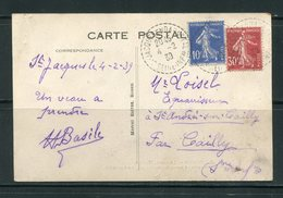 Carte Postale De ROUEN (la Grosse Horloge) De 1939- Y&T N°279 Et 360 - France