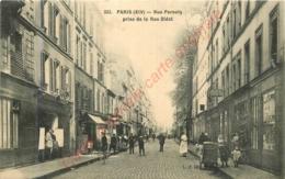 PARIS .  Rue Pernety Prise De La Rue Diderot . CPA Animée . - France