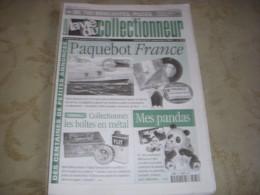 LVC VIE Du COLLECTIONNEUR 381 21.09.2001 PAQUEBOT FRANCE PANDAS BOITE METAL - Brocantes & Collections