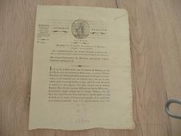 Justice Bédarieux Hérault Montpellier An VI Avis De Recherche Assassin Sans Culotte - Historical Documents
