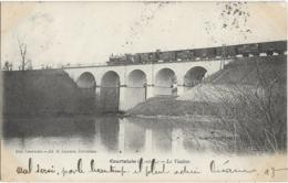 D28 - COURTALAIN - LE VIADUC - Train Passant Sur Le Viaduc - PRECURSEUR - Courtalain