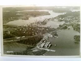 Mänttä. Seltene AK Finnland. Luftbild, Ortsansicht Mit Fabrikschornsteinen, Bucht, Gebäudeansichten, Schöner P - Ohne Zuordnung