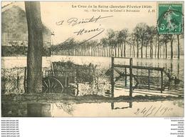 Inondation Et Crue De 1910. Route De CRETEIL à BREVANNES 94 - Limeil Brevannes