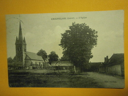 Chapelon L'église Loiret 45,voyagée 1932,très Bel état,pas Commun,envoi En Lettre économique 0,95€,possibilité De Regrou - Autres Communes