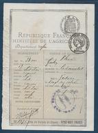 Permis De Chasse Départemental  De 1920 - La Sauvetat ( Gers ) - Fiscales