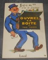 53 - Laval : Carte à Système : Boum !!! V'la Le Facteur - Ouvrez La Boite Et Vous Verrez   ----------- 536 - Laval