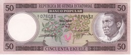 BILLETE DE GUINEA ECUATORIAL DE 50 EKUELE DEL AÑO 1975 EN CALIDAD EBC (XF)  (BANKNOTE) - Equatorial Guinea