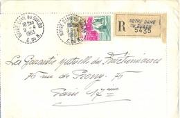 COTES D'ARMOR : RECOMMANDÉ NOTRE DAME DE GUILDO C. DU N. TàD RECETTE-DISTRIBUTION Du 9-4-1963 - Marcophilie (Lettres)