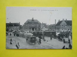 Etaples ,marché ,tramway Paris-Plage Sur La Place - Etaples