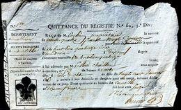 ROYAUTE NAPOLEON   GROSSIER CACHET FLEUR DE LYS IMPOSE SUR ANCIENNE VIGNETTE DE L'EMPIRE NAPOLEONIEN 1816 - Marcophilie (Lettres)