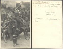 Carte Postale - Photo Non Située (Femme Bahar, Seins Nus) / Afrique. - Afrique